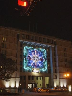 大阪市庁舎イルミネーション1601