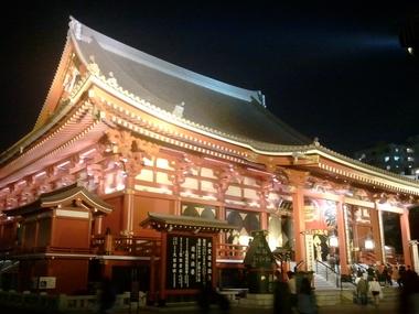 夜の浅草寺♪