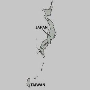 日本台湾地図