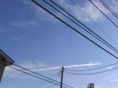 20160114飛行機雲