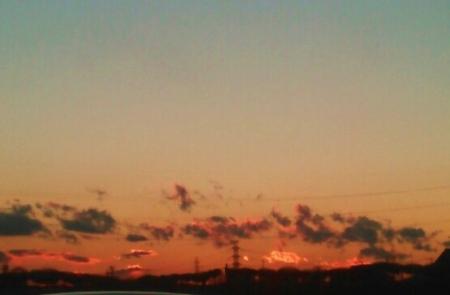 20160217夕焼け雲