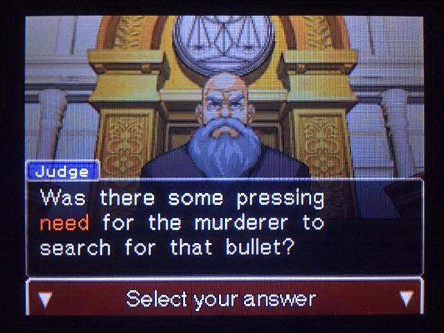 逆転裁判 北米版 真犯人が弾丸を持ち去った理由とは1