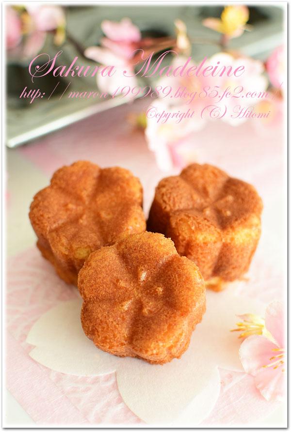 桜と栗のマドレーヌ☆