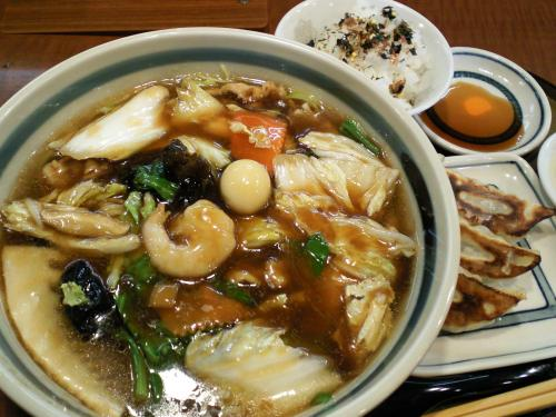 三宝亭うま煮ラーメンギョーザライス(28.2.29)