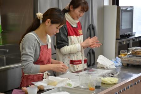 20160123チョコレートまんじゅう・薔薇の練きり②