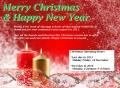 MSQ Christmas Card 2015 アロマスクール マッサージスクール オーストラリア
