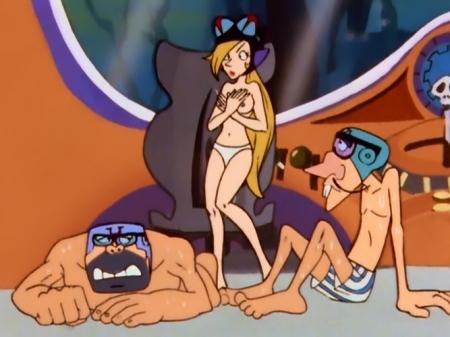 タイムボカン マージョの胸裸ヌードパンツ乳首3
