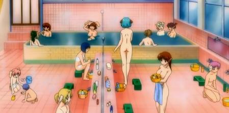円盤皇女ワるきゅーレ1期 銭湯の女性客の全裸入浴シーン126
