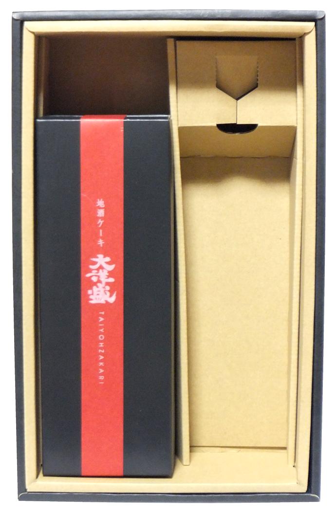 酒田屋 酒ケーキ 四合瓶2本入り 化粧箱