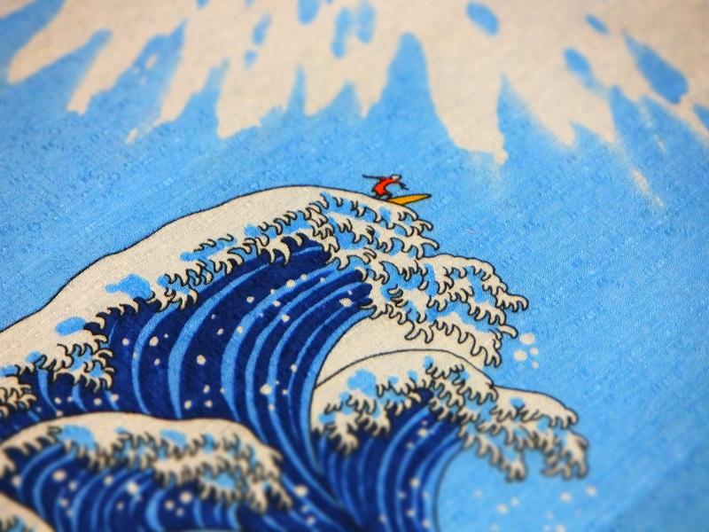 富士山 風呂敷 波乗り サーファー