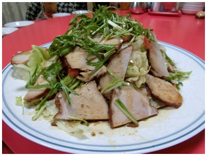 ①焼豚サラダ