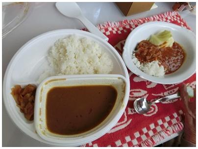 カレーのお昼ご飯