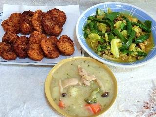 151208_3649一口豚フィレカツ・カレー風味野菜炒め・鶏肉のクリームシチューVGA