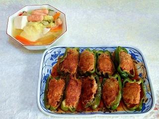 151222_3669白菜と豆腐のスープ・肉詰めピーマンVGA