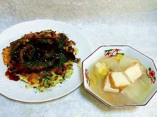 160119_3728キャベツ焼き・白菜と厚揚げの煮物VGA