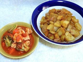 160122_3734トマトと鶏むね肉のやわらか塩糀煮・ジャーマンポテトVGA