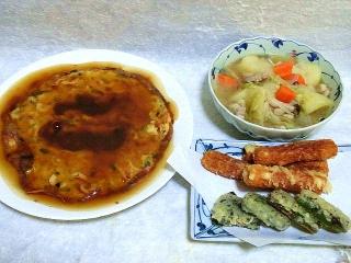 160205_3752五目かに玉・豚肉と野菜たっぷりのポトフ・竹輪とピーマンの天ぷらVGA