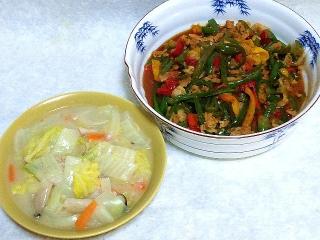 160219_3777白菜のクリーム煮・豚コマ肉の青椒肉絲VGA