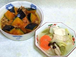 160226_3795かぼちゃのそぼろ煮・鶏むね肉の水炊きVGA