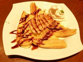倉敷珈琲店 チョコバナナフレンチトースト¥712