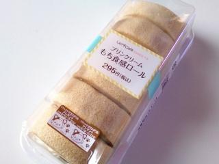 ローソン プリンクリームもち食感ロール¥295