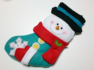 プラザ クリスマスビッグソックス スノーバディ