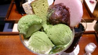 cafe solare Tsumugiかわりばんこ抹茶パフェ¥982a