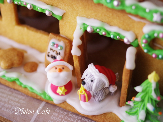 2015クリスマスのヘクセンハウスお菓子の家14