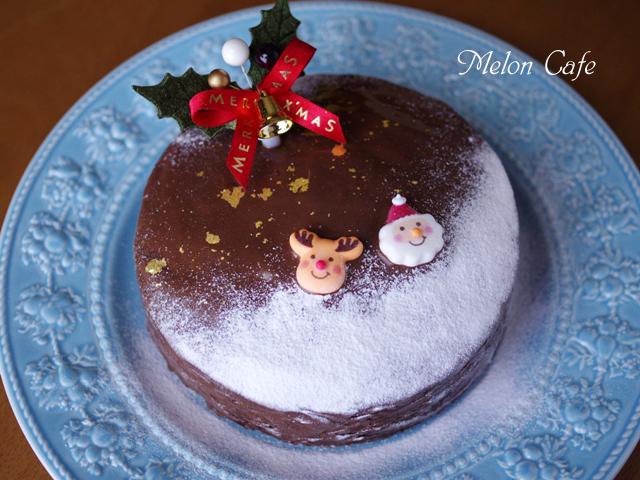ホットケーキミックスで作る超簡単クリスマスケーキチョコレートケーキ00