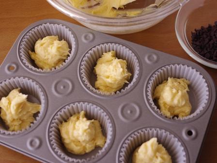 混ぜていくだけ簡単手順で本格マーブルチョコのカップケーキ04