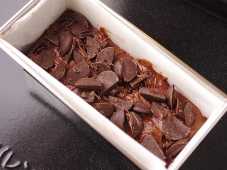 たっぷりチョコのパウンドケーキ03