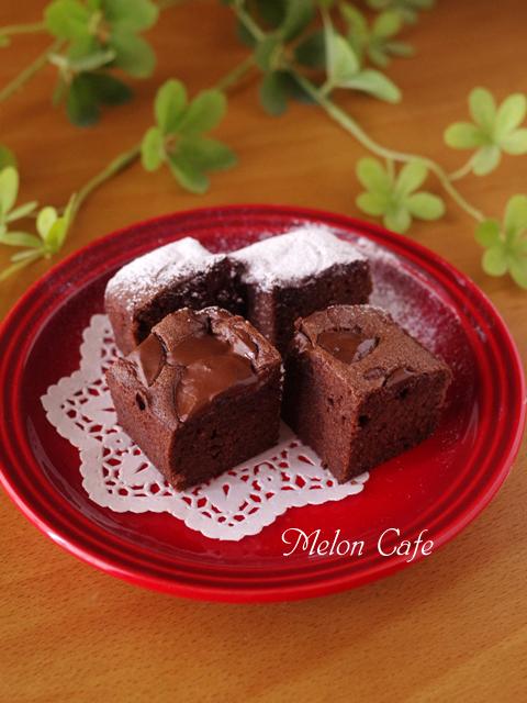 簡単にできるパウンドケーキ生地で贅沢チョコレートブラウニーバレンタインに