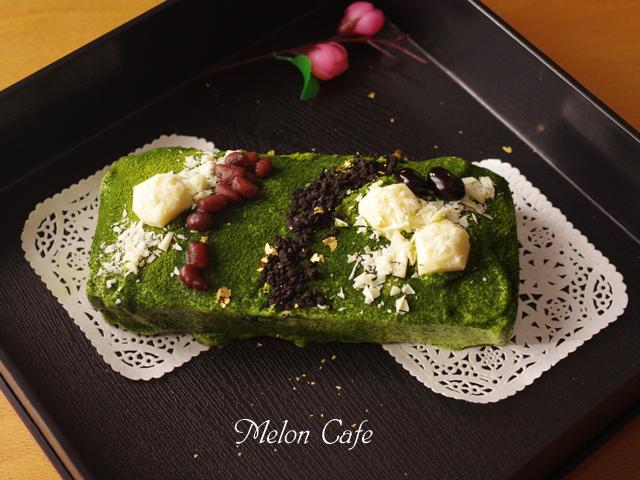 抹茶の庭ケーキ