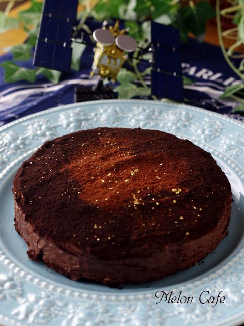 バレンタインの星空ケーキぎっしりチョコチップ10