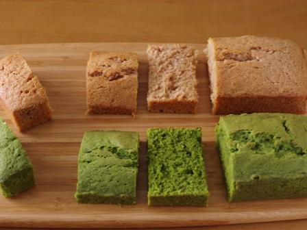 簡単パウンド生地でひなまつりの菱餅色ケーキ05
