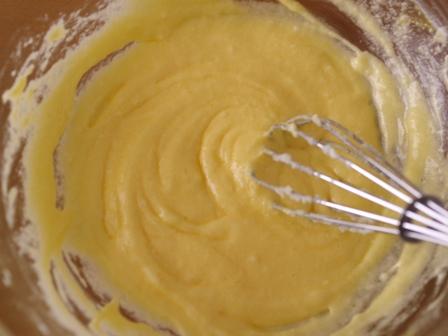 簡単パウンド生地でひなまつりの菱餅色ケーキ01