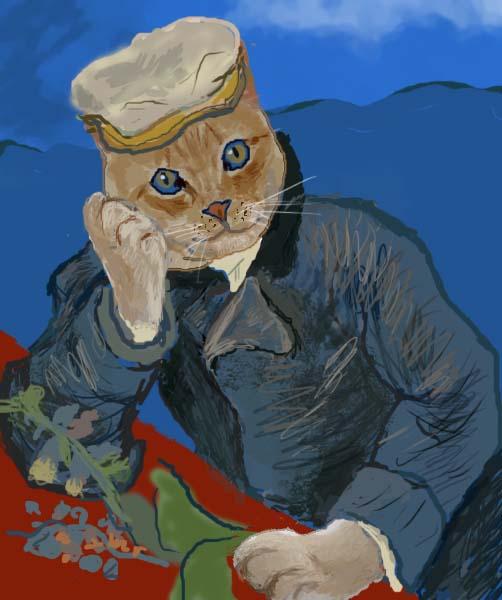 猫 ノラの肖像