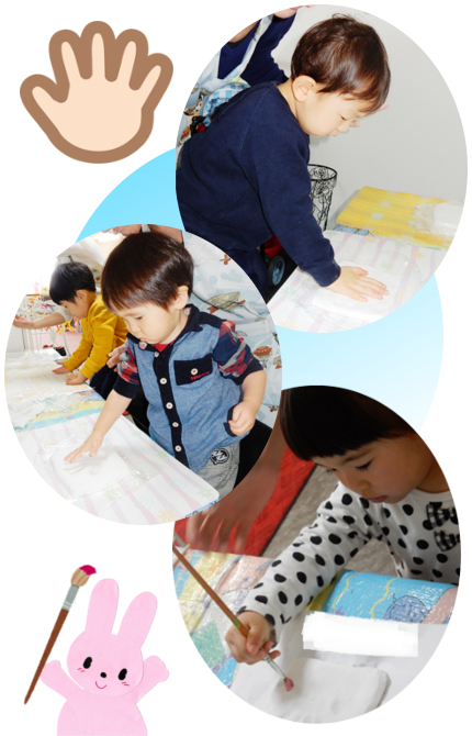 Baby MIE 手形取り・色塗り