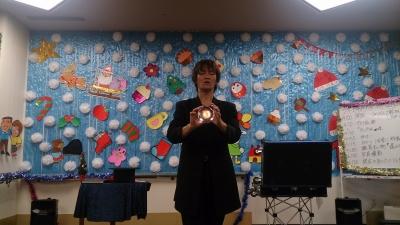あいハート須磨デイサービスセンター,老人ホーム,高齢者向け,マジシャン派遣,出張パフォーマンス,みっきゅん,神戸市須磨区,関西,水晶玉