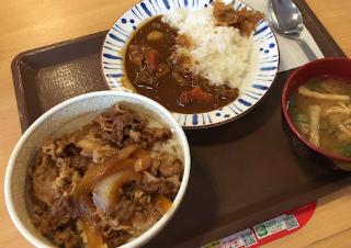 牛丼カレーセット 1