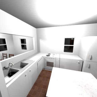 田中邸3D間取りキッチン収納