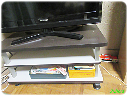 テレビ台の棚の断捨離