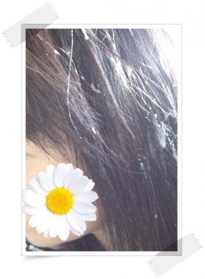 髪につけて