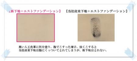 ファンデや肌との密着性がアップ!!