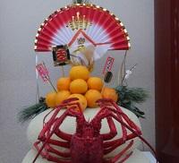 16-01きょう歌舞伎座鏡餅