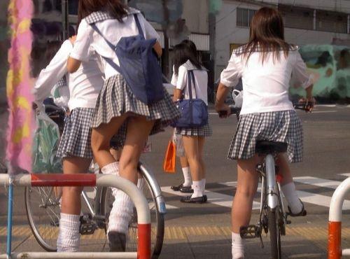【盗撮画像】自転車通学中のJKは適当に歩いててもパンチラ見えてる説 41枚 No.6