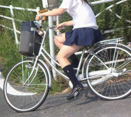 【盗撮画像】自転車通学中のJKは適当に歩いててもパンチラ見えてる説 41枚 No.14