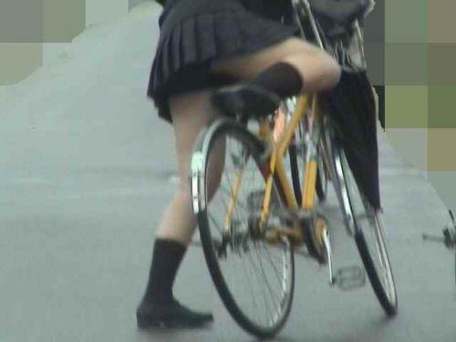 【盗撮画像】自転車通学中のJKは適当に歩いててもパンチラ見えてる説 41枚 No.15