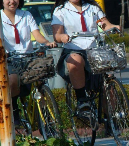 【盗撮画像】自転車通学中のJKは適当に歩いててもパンチラ見えてる説 41枚 No.31