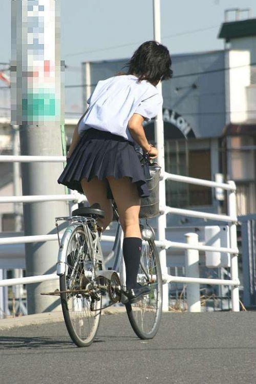 JKの自転車パンチラ盗撮画像集めたから貼っていくわ! 40枚 No.8